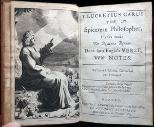 On the Nature of Things Lucretius title page