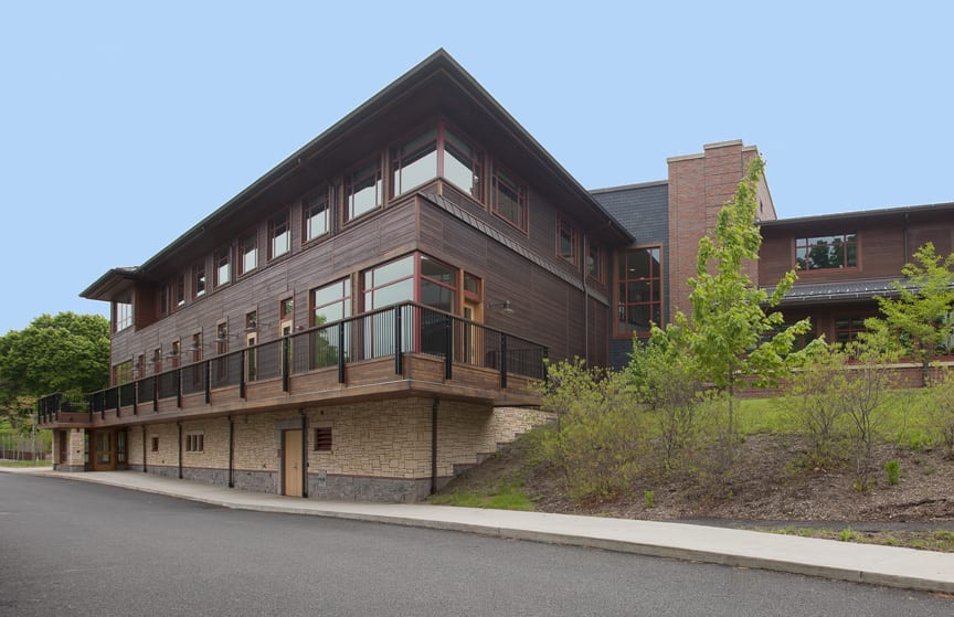 Weld Hill Research Building at the Arnold Arboretum of Harvard University and the home of the Friedman Lab